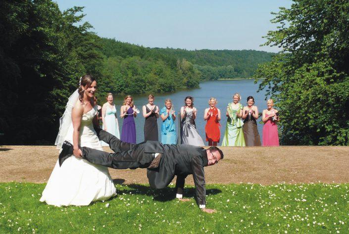 Hochzeitsfoto Brautpaar Spiel