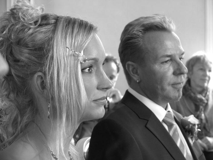 Hochzeitsfoto Brautpaar Schwarzweiss