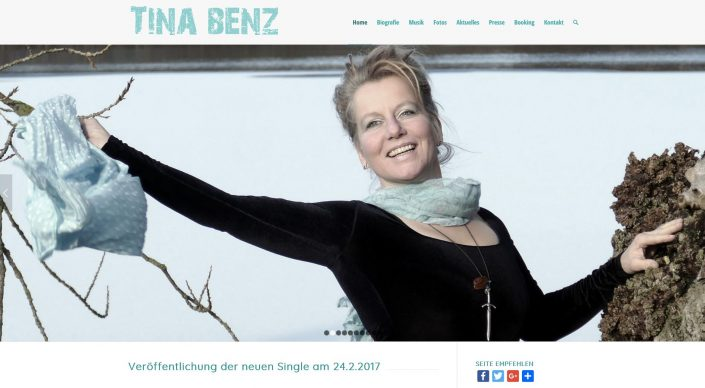 Homepage Tina Benz
