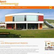 Homepage Sport- und Bildungszentrum Malente