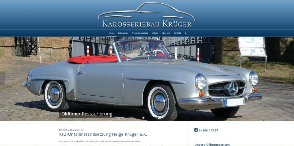 Webdesign otto-photo KFZ Krüger