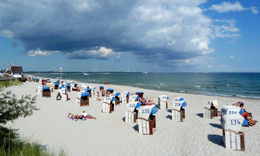 Ostsee Scharbeutz Strand Wolken