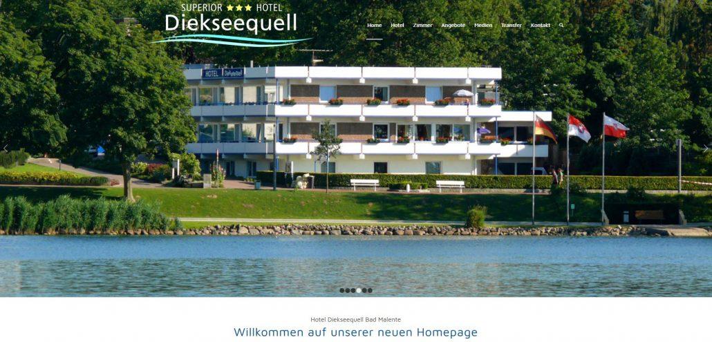 Webdesign Hotel Diekseequell