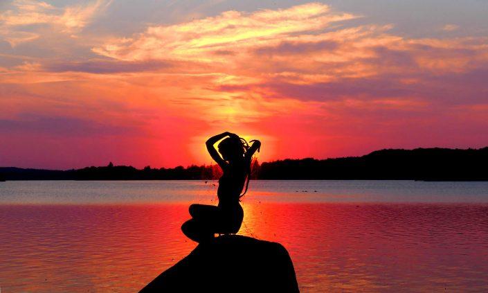 otto-photo Bad Malente Dieksee Seejungfrau Sonnenuntergang